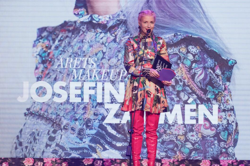 "Josefina Zarmén vann ""Årets make up artist""."