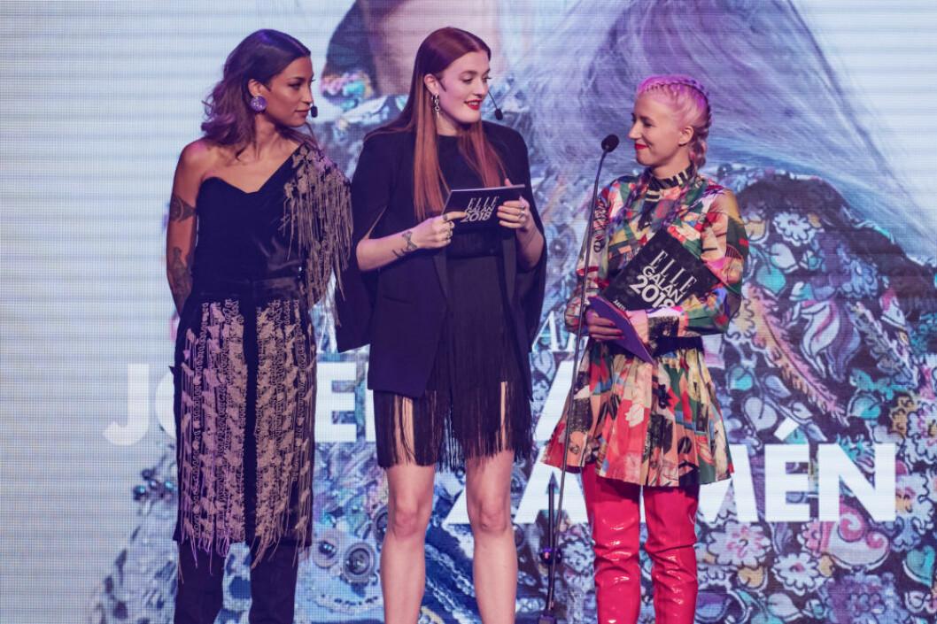 Icona Pop med Josefina Zarmén på ELLE-galan.