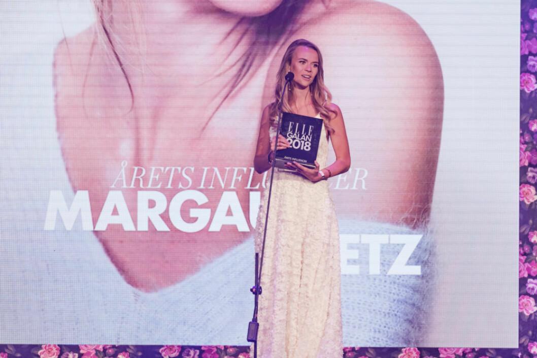 """Margaux Dietz tog emot priset """"Årets influencer"""""""