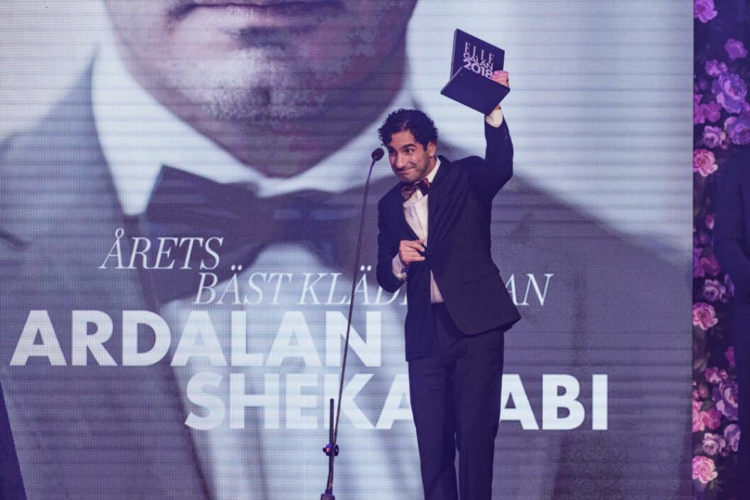"""Ardalan Shekarabi utsågs till """"Årets bäst klädda man""""."""