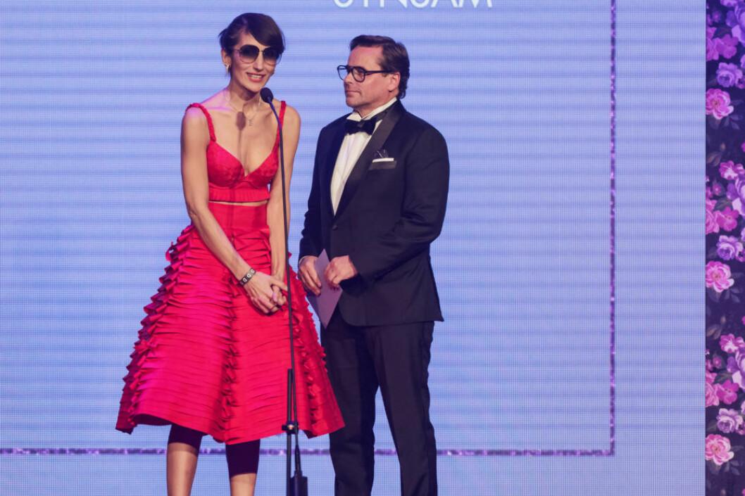 Marina Kereklidou delade ut pris på ELLE-galan.