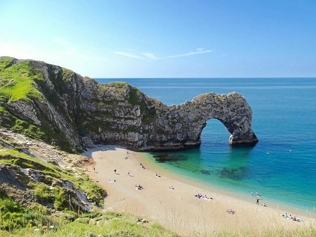 Durdle Door är en instagramvänlig strand i England