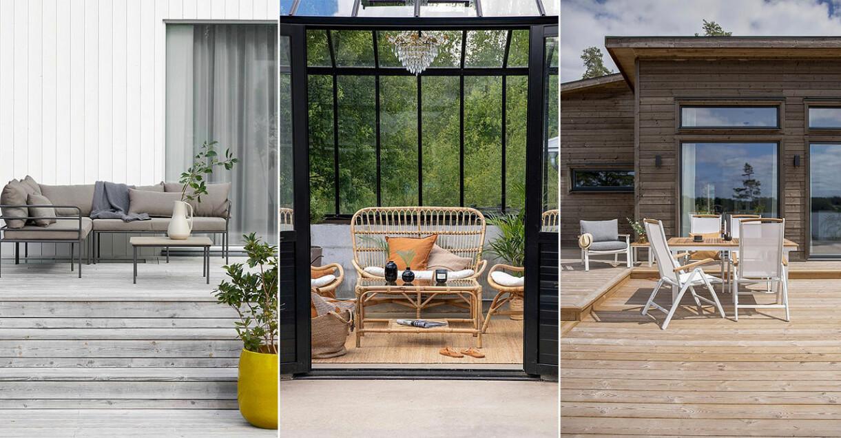 utemöbler och loungemöbler till uteplats och trädgård 2021