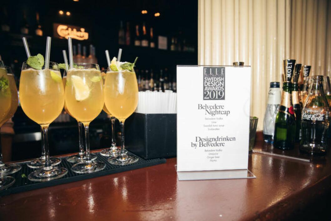 En av drinkarna på festen på ELLE Decoration Swedish Design Awards 2019