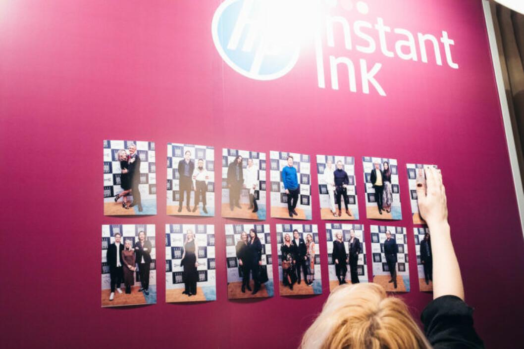 Instant Ink visar upp bilderna från röda mattan festen på ELLE Decoration Swedish Design Awards 2019