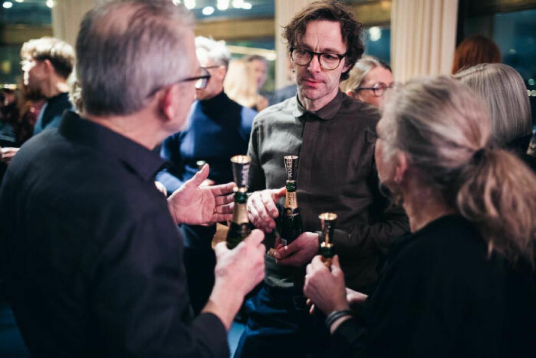 Gäster i samtal på festen på ELLE Decoration Swedish Design Awards 2019