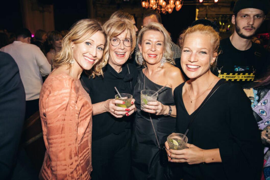 Fyra av gästerna festen på ELLE Decoration Swedish Design Awards 2019