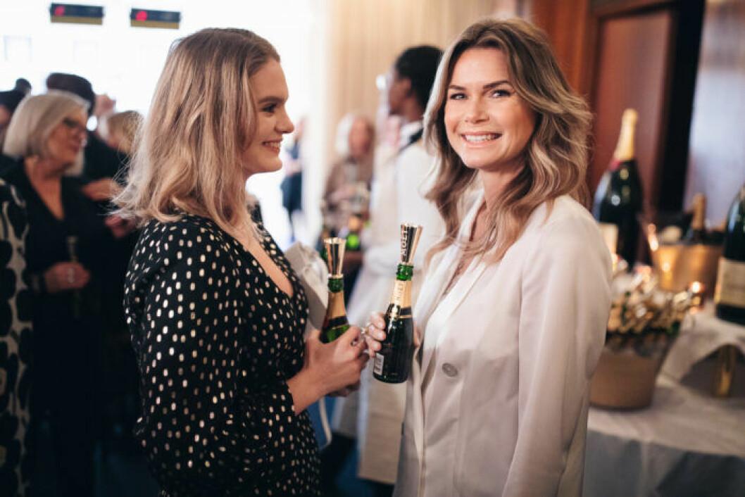 Valerie Aflalo med vän på festen på ELLE Decoration Swedish Design Awards 2019