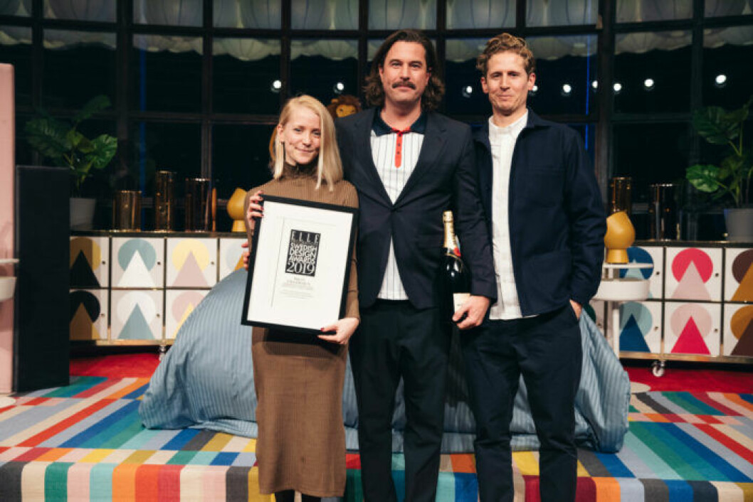 Note Design Studio tar emot sitt pris på ELLE Decoration Swedish Design Awards 2019
