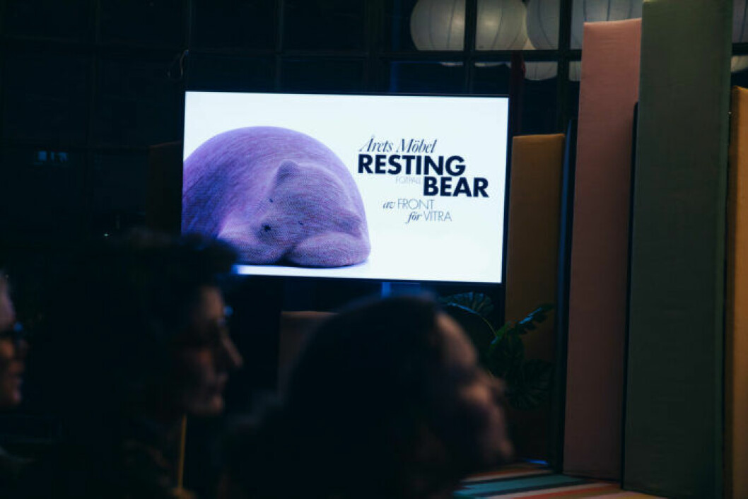 Årets möbel gick till Resting bear på ELLE Decoration Swedish Design Awards 2019