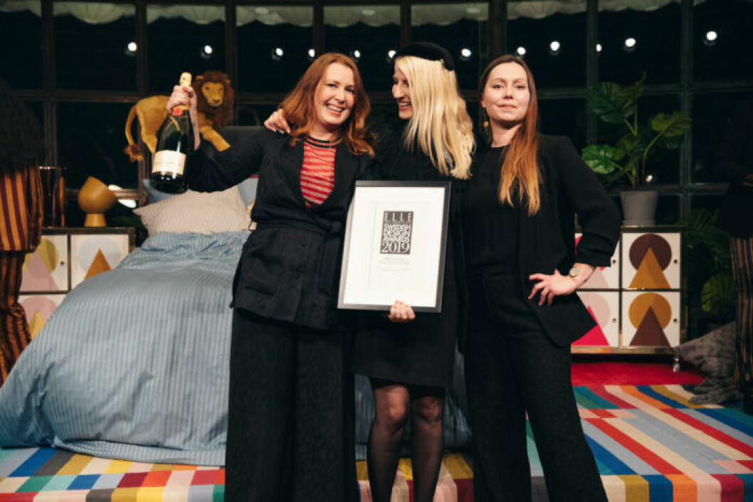 Glada vinnare på på ELLE Decoration Swedish Design Awards 2019