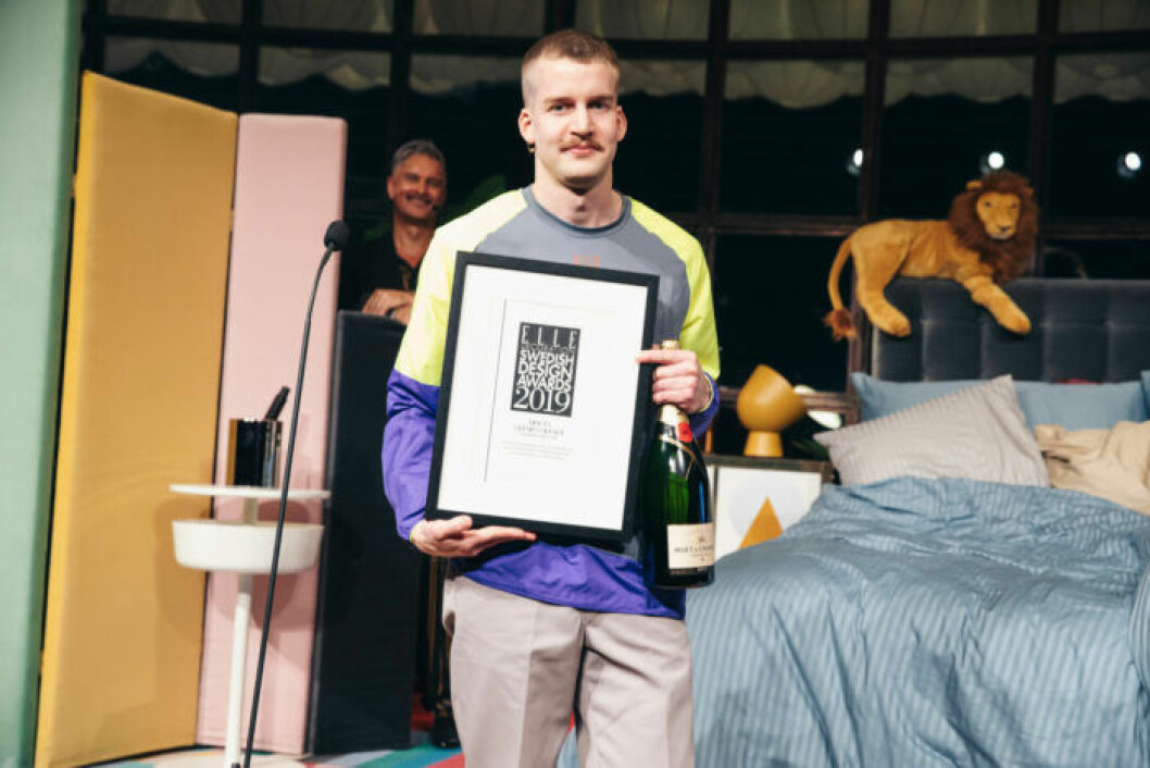 Jonatan Nilsson på ELLE Decoration Swedish Design Awards 2019