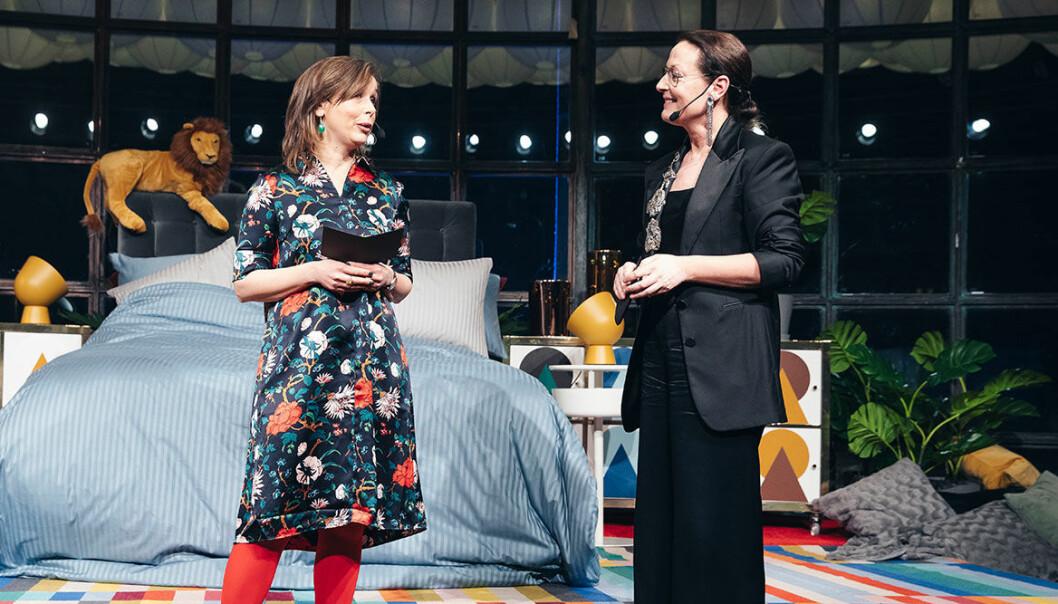 Innehållschef Karin Ohlsson–Leijon och chefredaktör Cia Jansson på ELLE Decoration Swedish Design Awards 2019