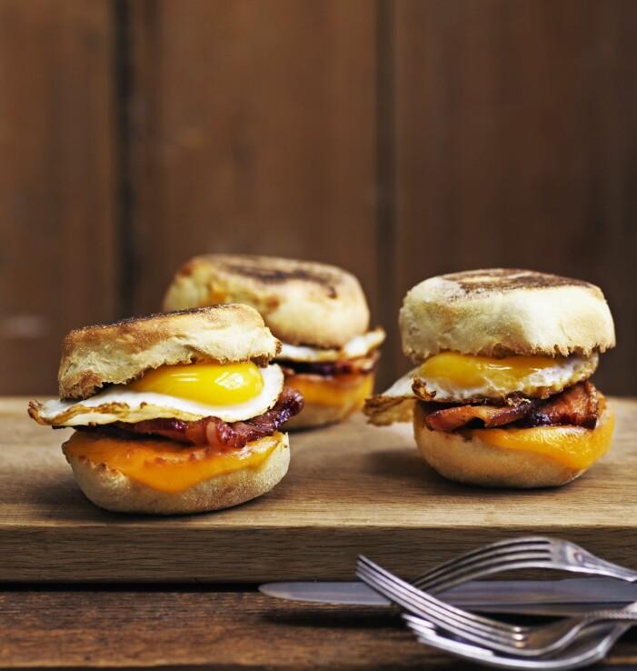 Egg mac muffin med bacon