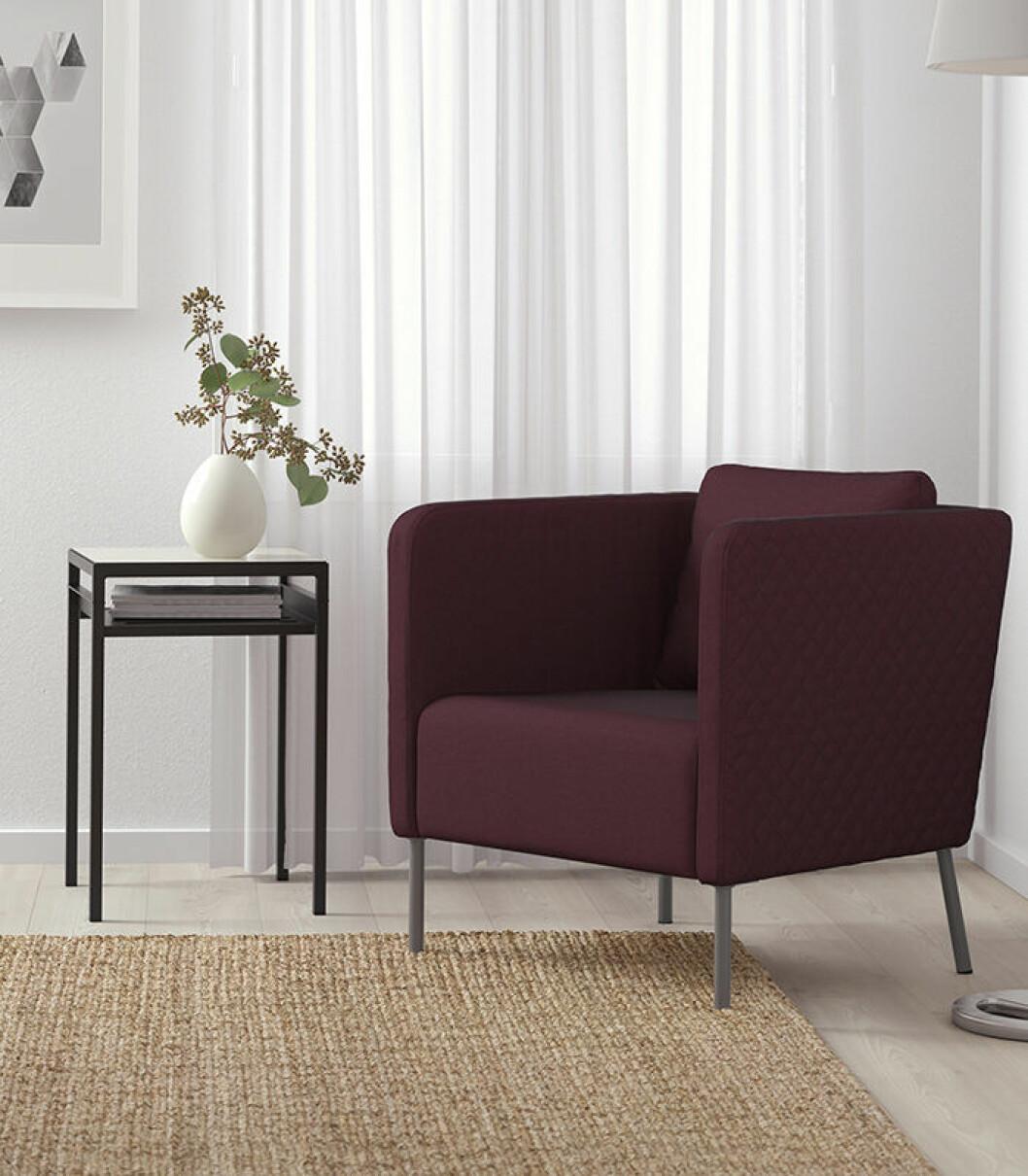 Ekerö fåtöljen från Ikea, designad av Eva Lilja Löwenhielm.