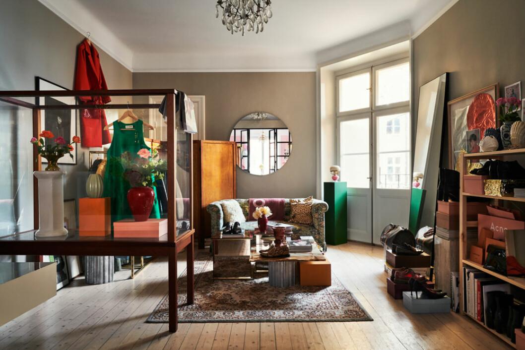 Vardagsrum med soffa Elin Ullenius Vasastan