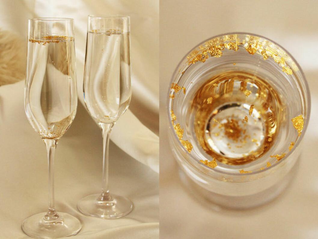 Elixa är ett alkholfritt bubbel med äkta guld.