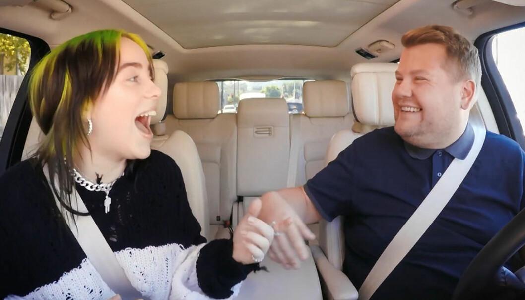 Billie Eilish i Carpool Karaoke med James Corden