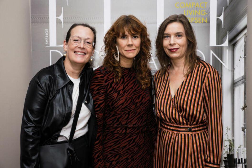 Chefredaktör Cia Jansson, Art Director Nina Oja och innehållschef Karin Ohlsson-Leijon.