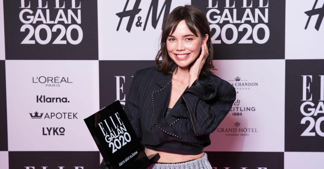 Årets bäst klädda kvinna Hedda Stiernstedt på ELLE-galan 2020