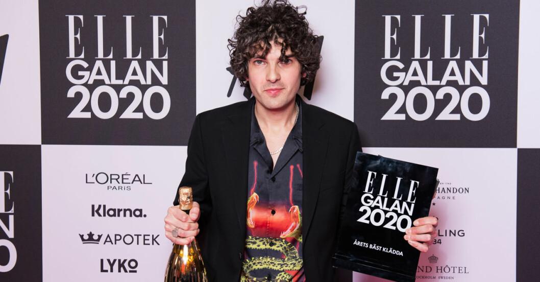 Årets bäst klädda man Daniel Hallberg på ELLE-galan 2020