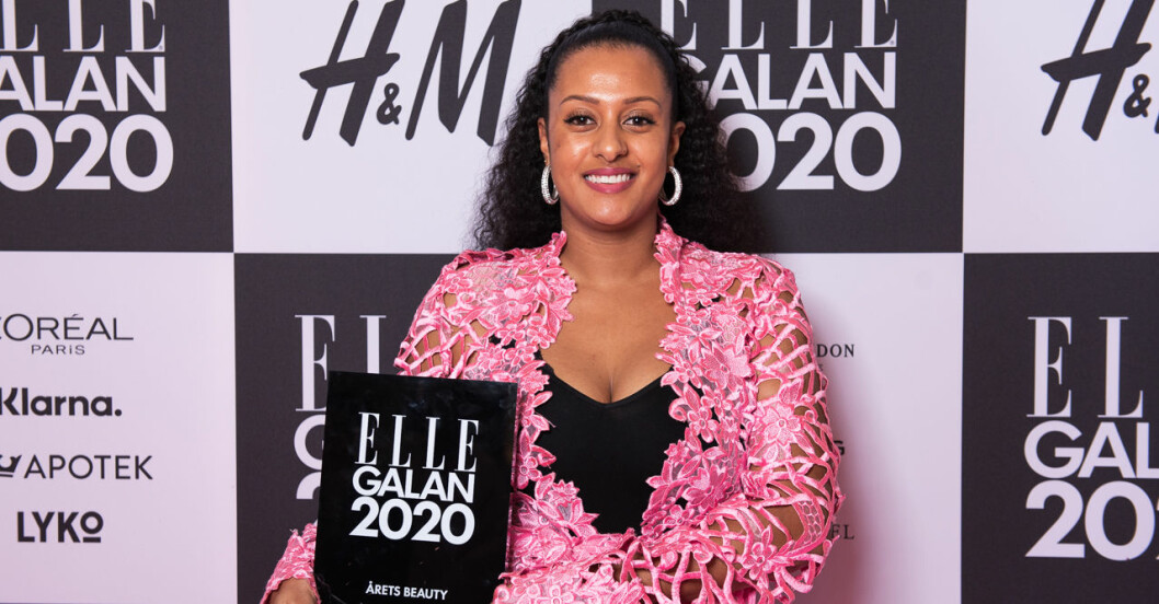 Årets Beauty Sainabou Chune på ELLE-galan 2020
