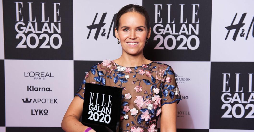 Årets blickfång Frida Jonsvens på ELLE-galan 2020