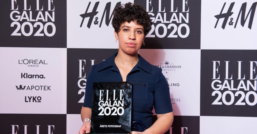 Årets fotograf Angelina Bergenwall på ELLE-galan 2020