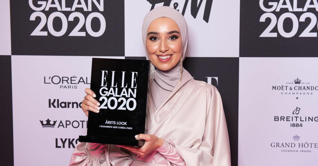 Årets look i samarbete med Loreal Paris Imane Asry på ELLE-galan 2020