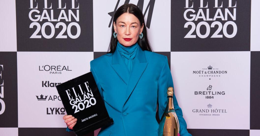 Årets modell Ursula Wågander på ELLE-galan 2020