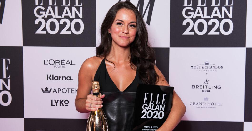 Årets nykomling Amanda Bergfors Meszaros på ELLE-galan 2020
