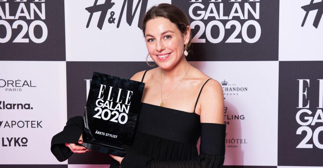 Årets stylist Anna Fernandez på ELLE-galan 2020