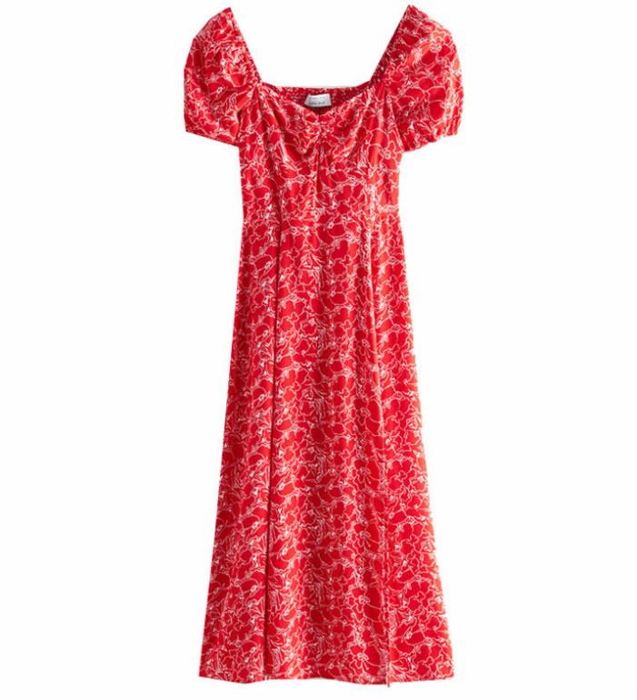 röd klänning & Other stories