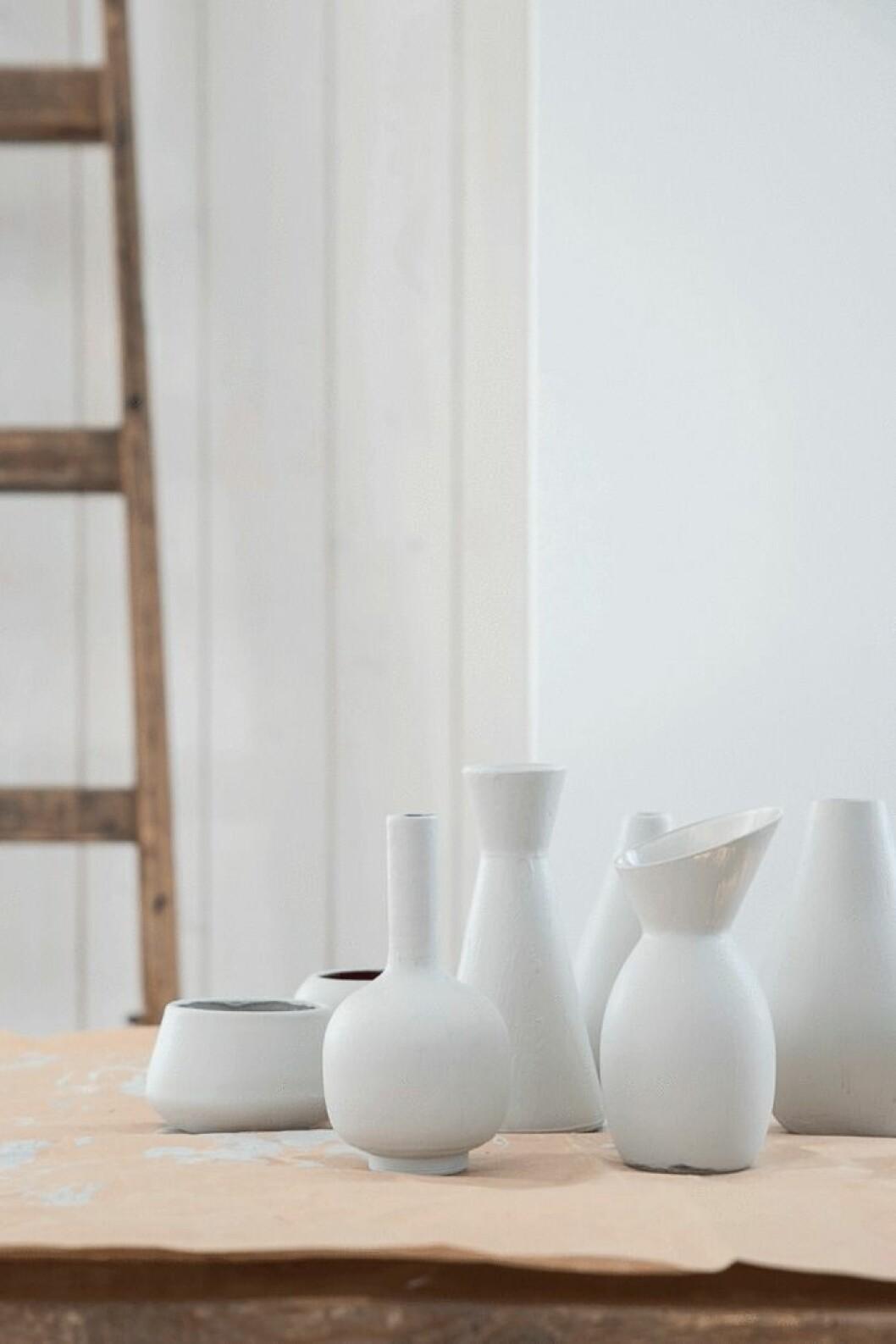 Vacker nymålad keramik.