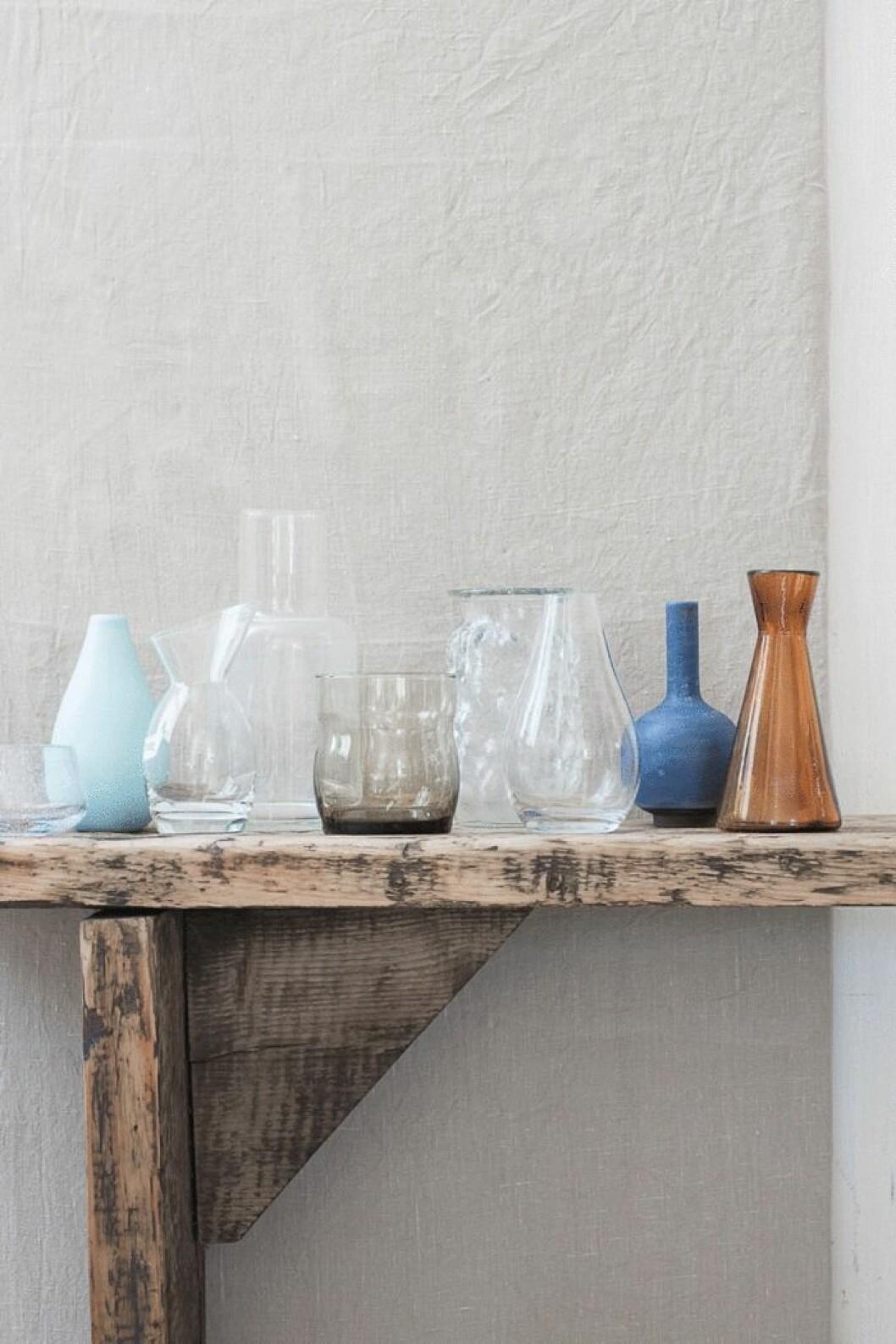 Hur vaserna såg ut från början