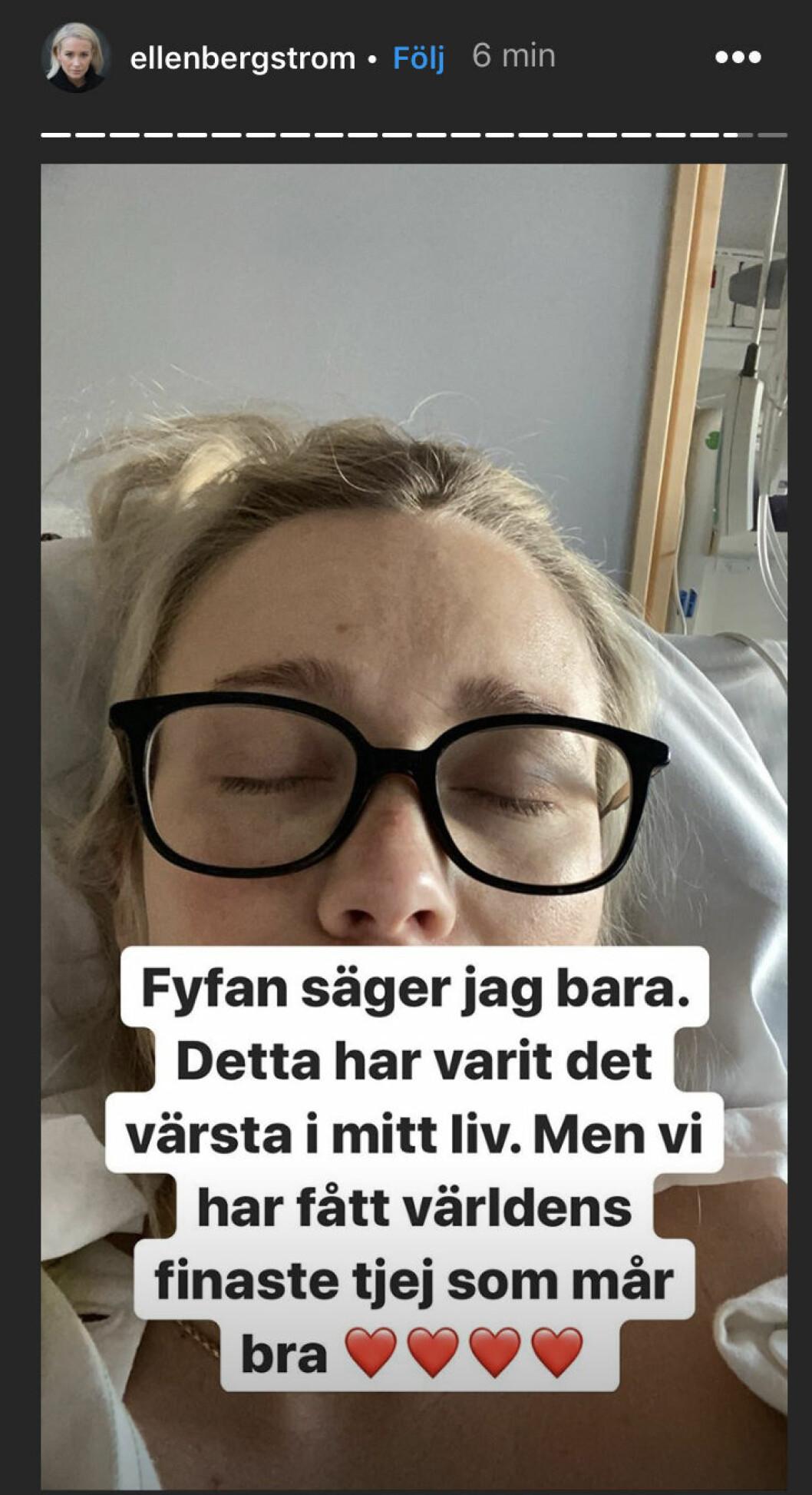 Ellen Bergström har fått en dotter