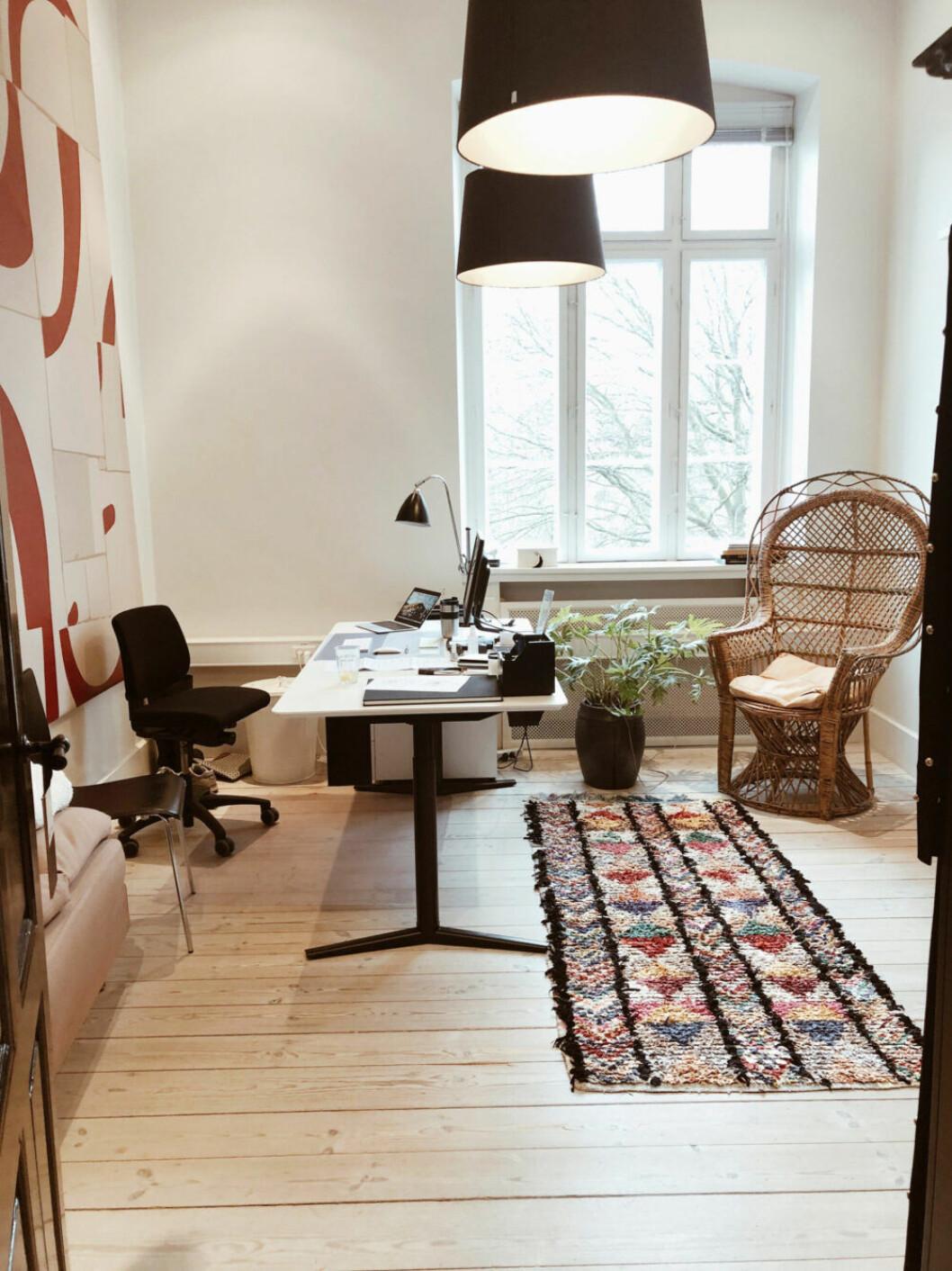 Ellen Dixdotters kontor på By Malene Birger i Köpenhamn