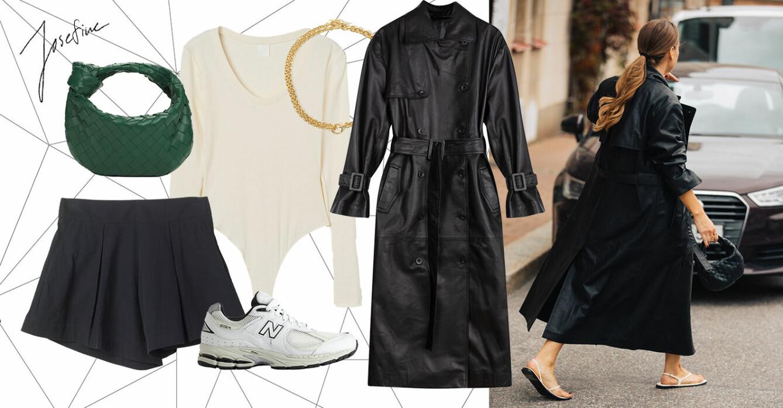 ELLE stylar läderkappan på fem stilsäkra och enkla sätt.