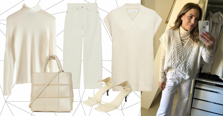 ELLE stylar vita jeans.