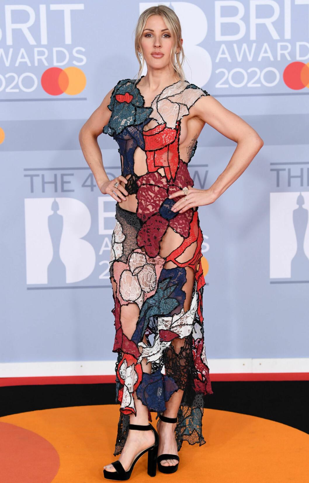 Ellie Goulding på Brit Awards 2020.