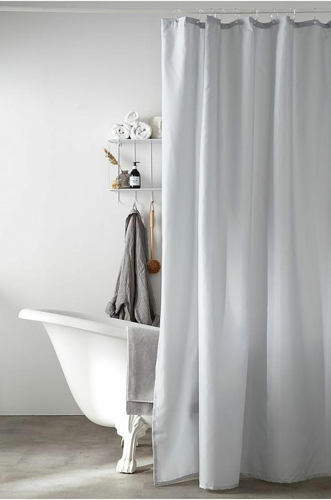 duschdraperi grått