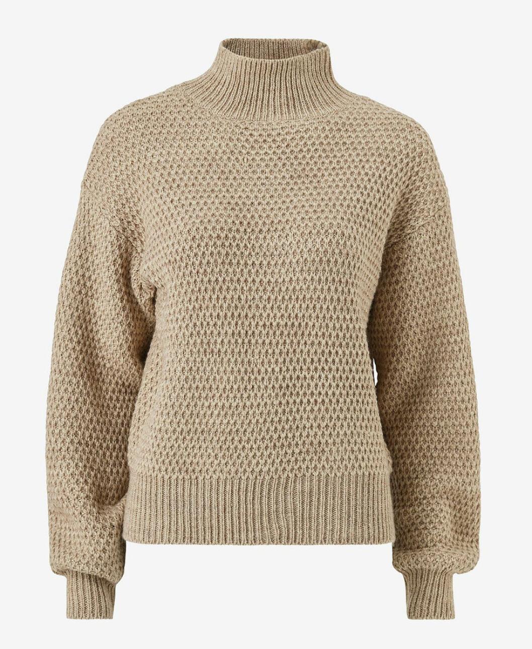Beige stickad tröja från Ellos