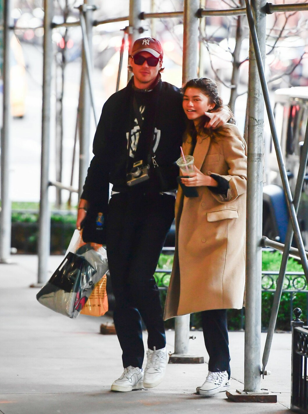 Jacob Elordi och Zendaya i New York