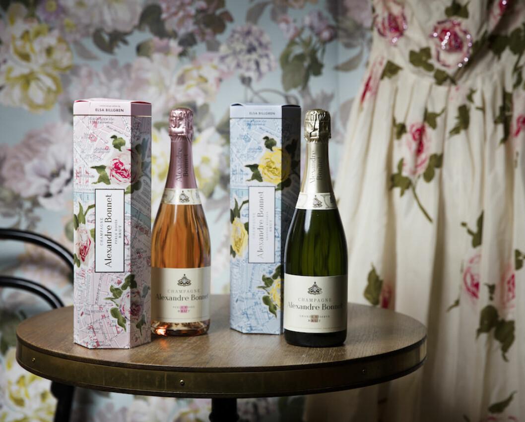 champagnehuset Alexandre Bonnet med en svensk modeprofil för att skapa en limiterad presentförpackning till deras champagne.