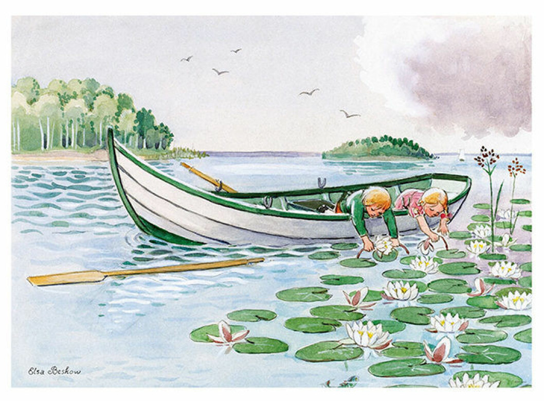 Poster med motiv av Elsa Beskow till barnrummet