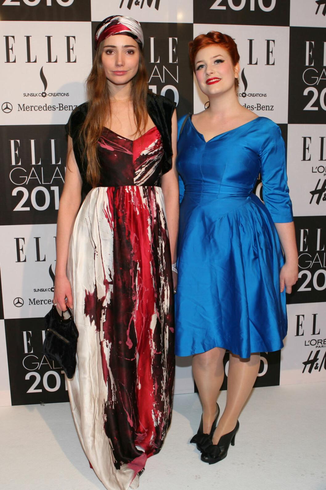 Elsa Billgren på ELLE-galan 2010 med Sibel
