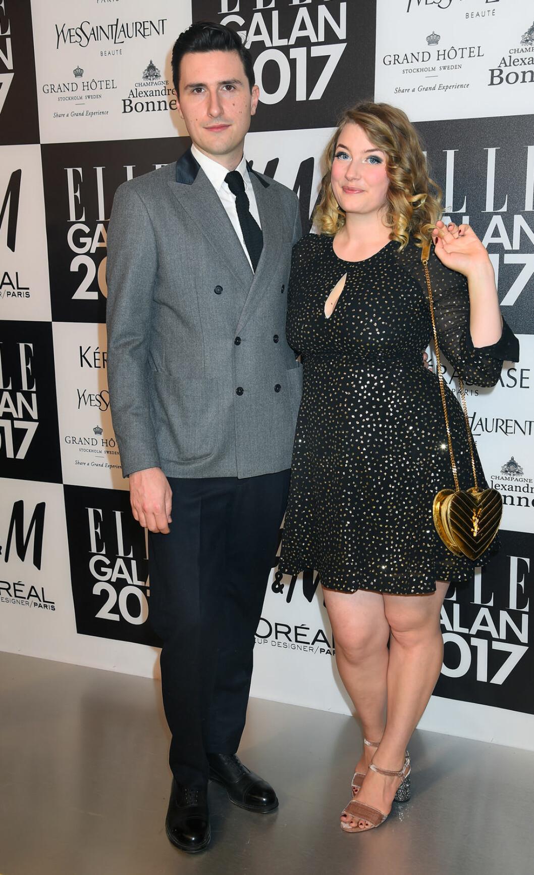Elsa Billgren på ELLE-galan med sin make 2017
