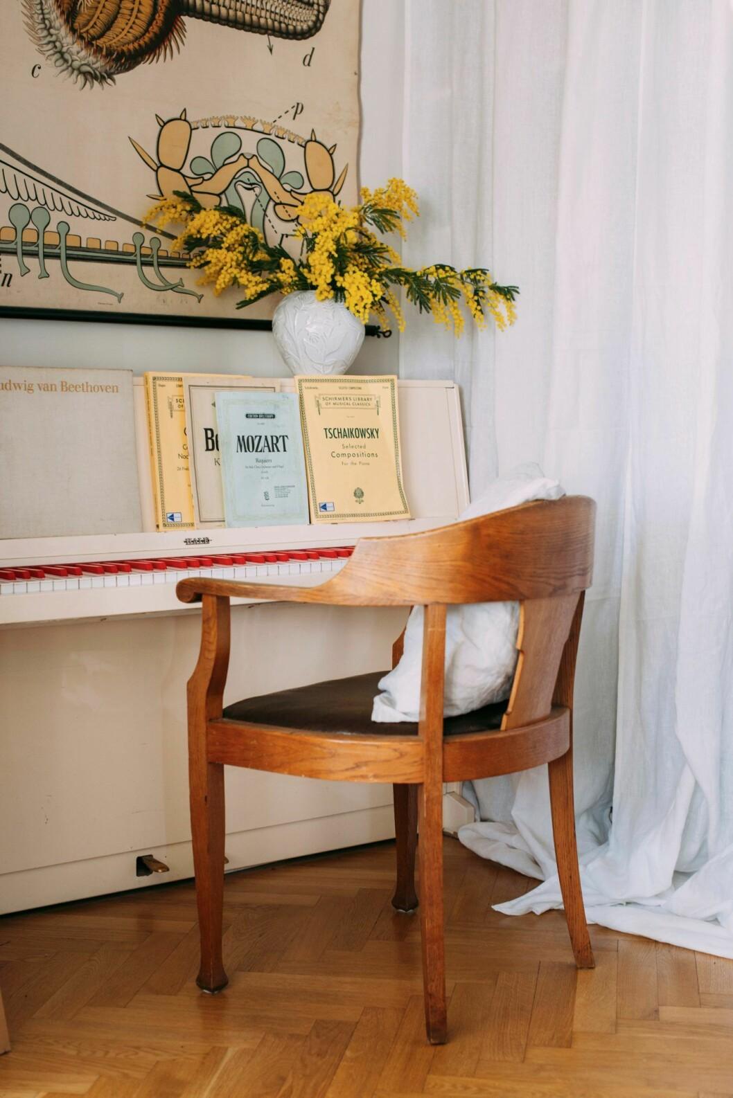 Pianohörna hos Elsa Billgren