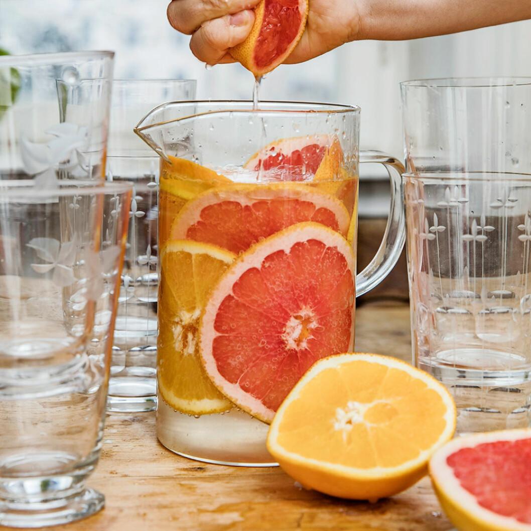Bubblande citruskanna.