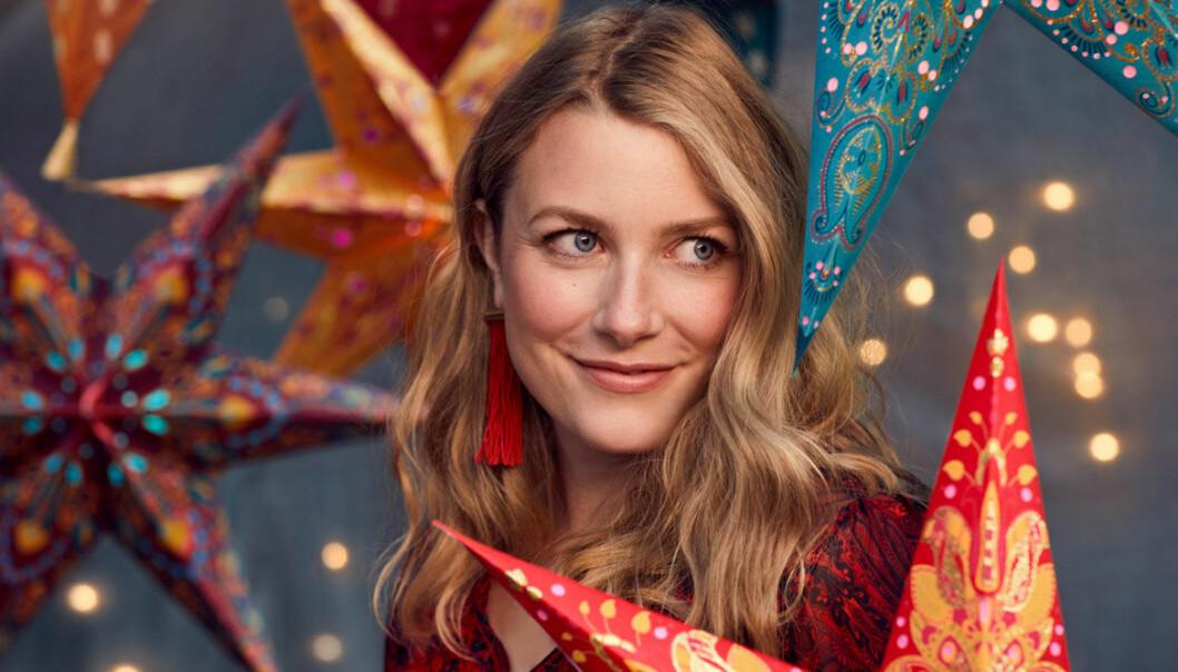 Elsa Billgren för Indiska, jul 2018.